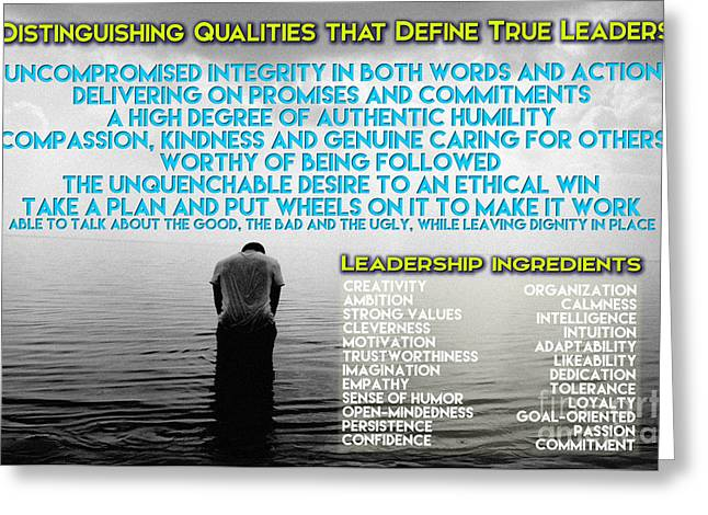 Distinguishing Qualities That Define True Leaders Greeting Card