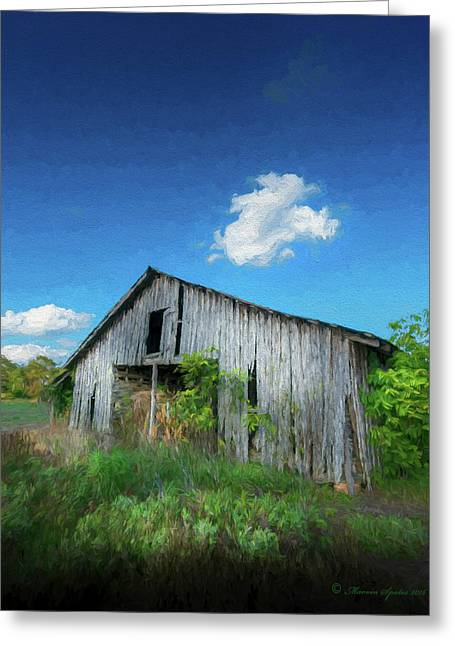 Distress Barn Greeting Card by Marvin Spates