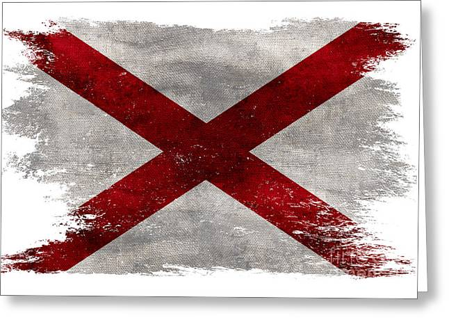 Distressed Alabama Flag Greeting Card