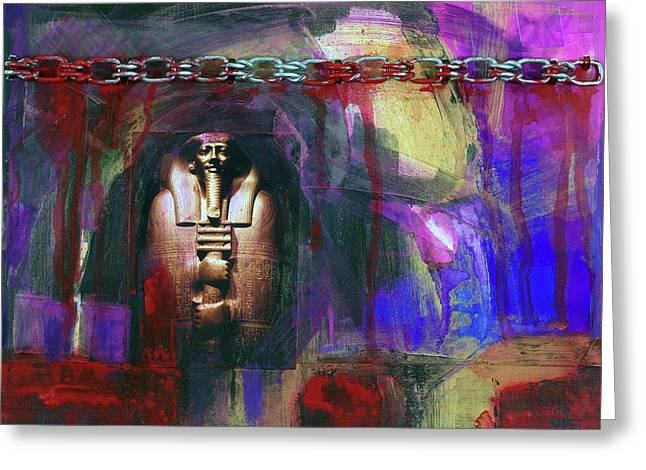 Distressed Civilization  Greeting Card by Walter Fahmy