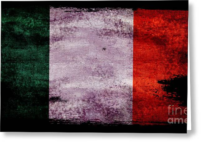 Distressed Flag Of Ireland Greeting Card by Jon Neidert