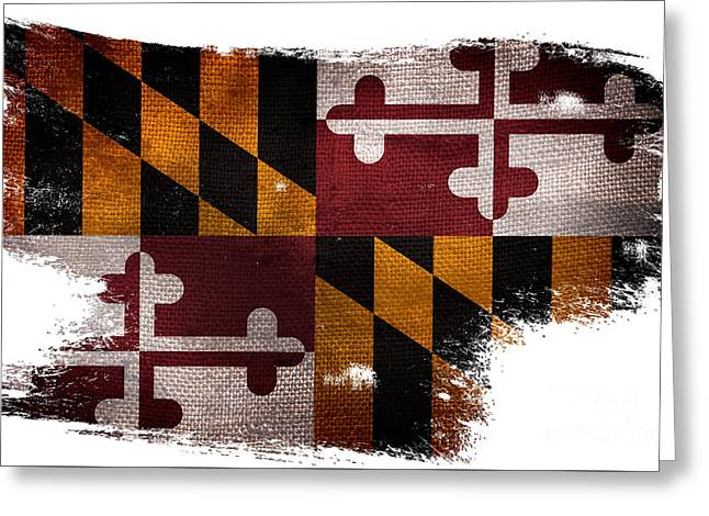 Distressed Maryland Flag Greeting Card