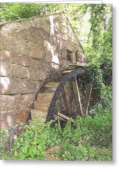 Disused Water Wheel Greeting Card