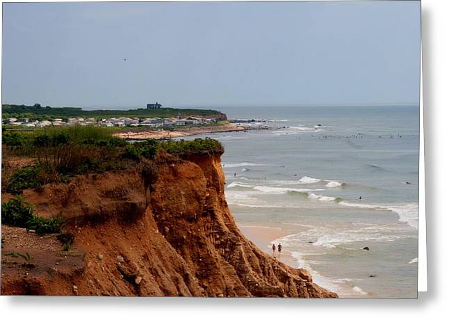 Ditch Plains Montauk Greeting Card by Christopher Kirby