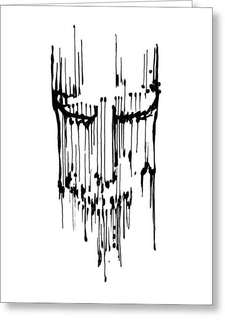 Greeting Card featuring the drawing Dither by Keith A Link
