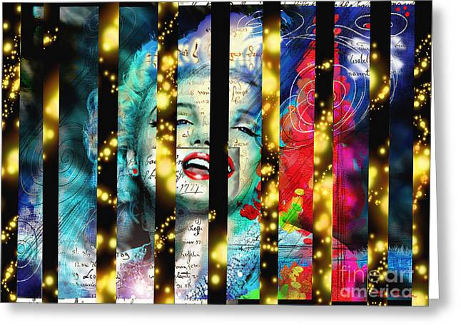 Diva A Star In Stripes Greeting Card
