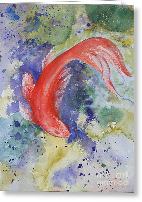 Diva Koi Greeting Card