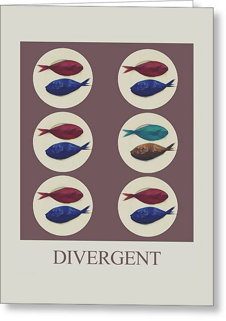 Divergent Greeting Card by Galen Valle