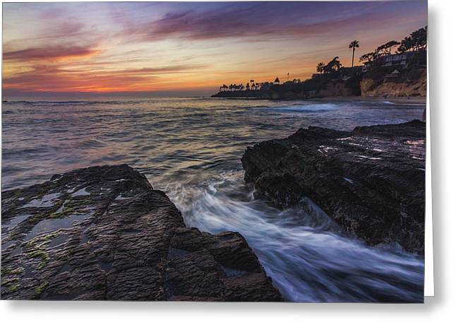 Diver's Cove Sunset Greeting Card