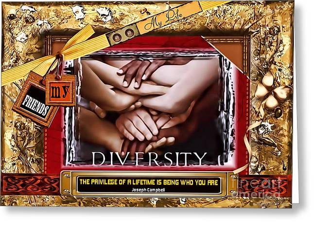 Diversity Greeting Card by Kathy Tarochione