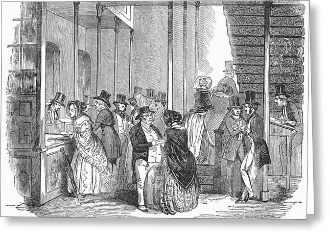 Dividend Day, 1842 Greeting Card