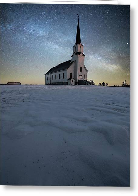 Divine Greeting Card by Aaron J Groen