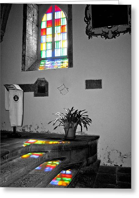 Greeting Card featuring the photograph Divine Light by Rosemary Aubut