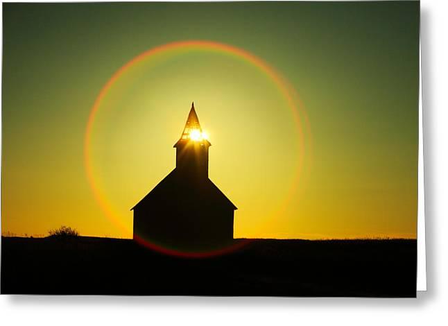 Divine Light Greeting Card by Todd Klassy