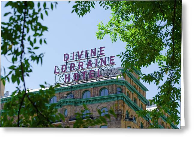 Divine Lorraine Hotel Restored - Philadelphia Greeting Card by Bill Cannon