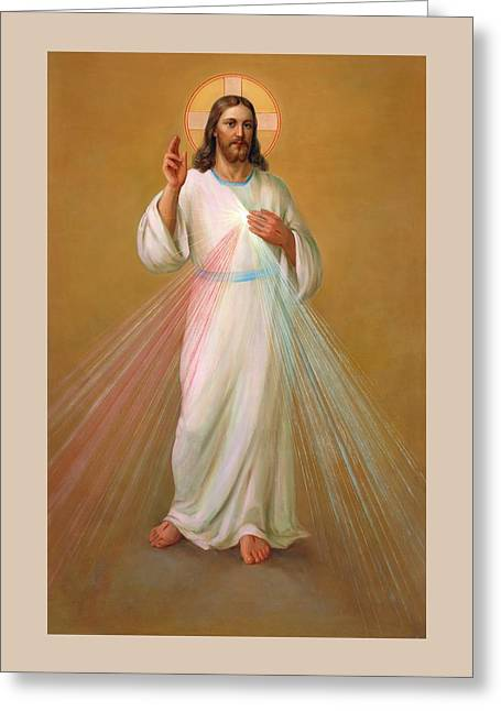 Divine Mercy - Divina Misericordia Greeting Card