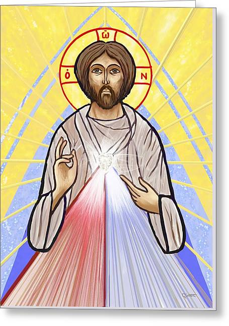 Divine Mercy Icon Style Greeting Card