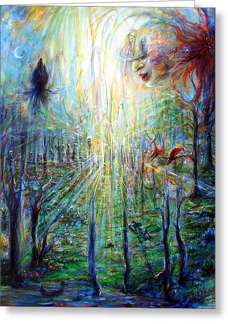 Greeting Card featuring the painting Divine Mother Earth by Heather Calderon