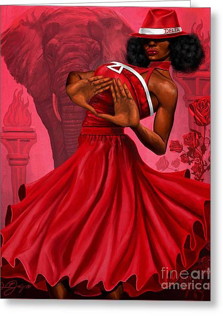 Divine Red And White Greeting Card