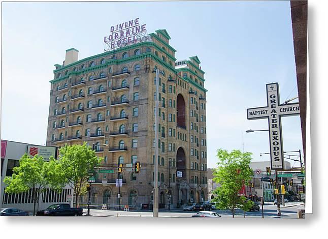 Divine Resurection - Divine Lorraine Hotel Philadelphia Greeting Card