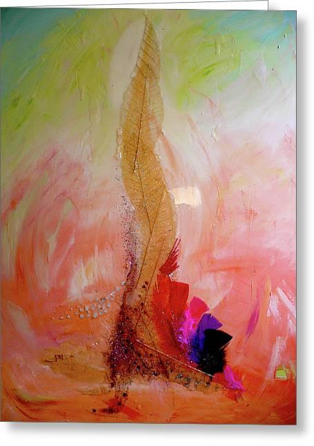 Divine Source - Earth Greeting Card by Alexandra Florschutz