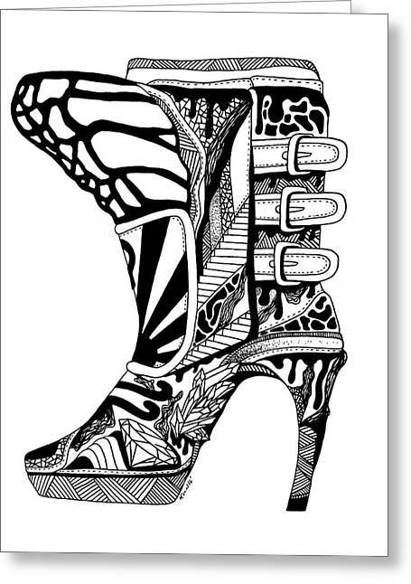 Divine Stairway High Heel Greeting Card by Kenal Louis