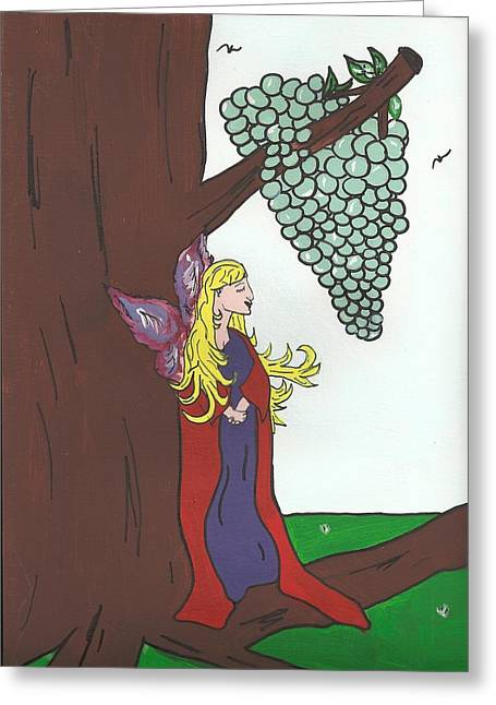 Divine Vine Greeting Card by Janell Calori