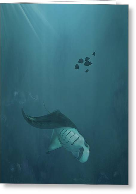 Diving Deep Greeting Card