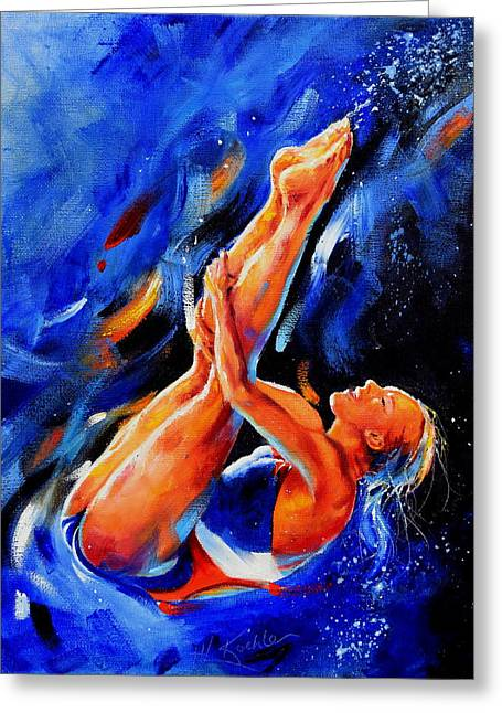 Diving Diva Greeting Card