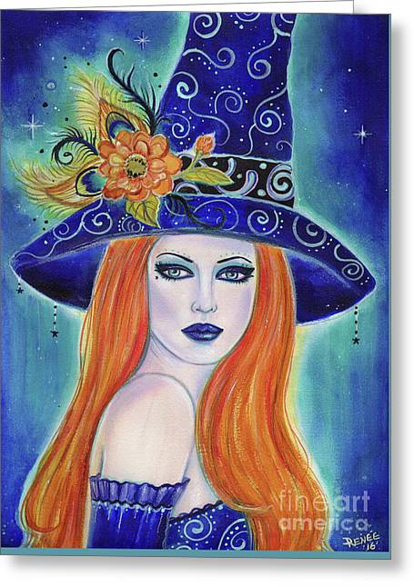 Divinia Halloween Witch  Greeting Card