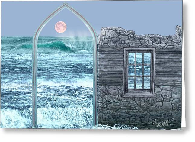 Divinity Gate  Greeting Card