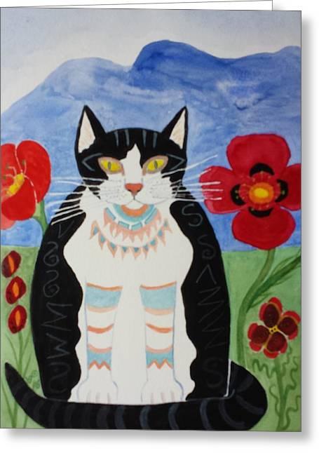 Diwali Tux Cat Greeting Card