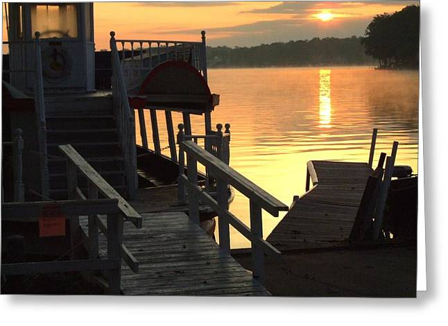 Dixie Boat Sunrise Greeting Card