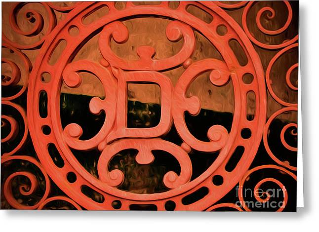 Dixie Brewery Medallion - Cast Iron Greeting Card