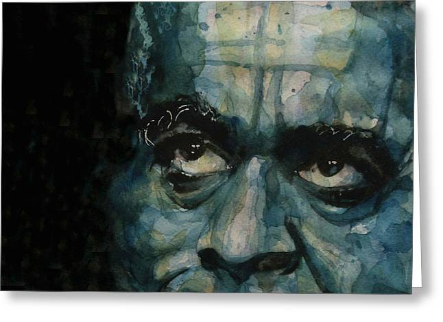 Dizzy Gillespie Greeting Card by Paul Lovering