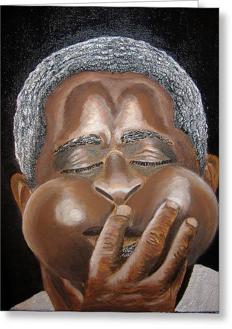 Keenya Woods Mixed Media Greeting Cards - Dizzy- The Jazz Man Greeting Card by Keenya  Woods