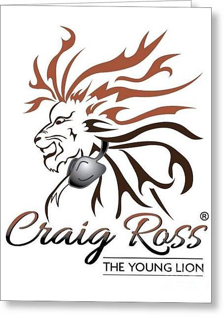 Dj Craig Ross Logo Greeting Card by TSB Art Gallery Dennis Thompson Jr Curator Photographer