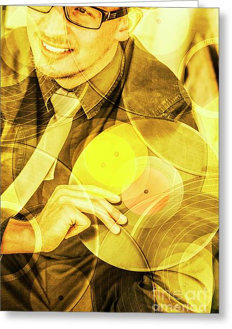 Dj House Music  Greeting Card by Jorgo Photography - Wall Art Gallery