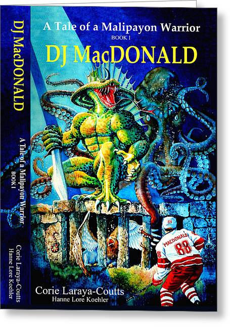 Dj Macdonald Book Cover Greeting Card by Hanne Lore Koehler