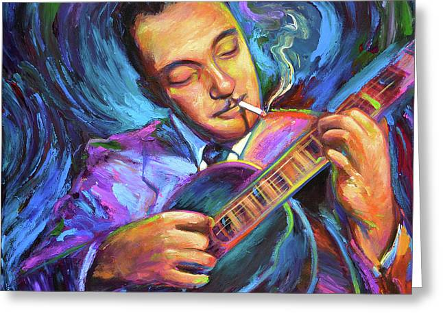 Django Reinhardt  Greeting Card