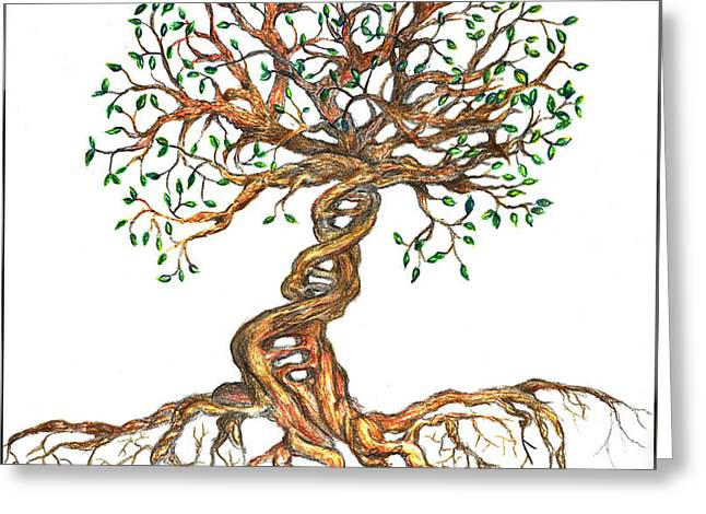 Dna Tree Of Life Greeting Card