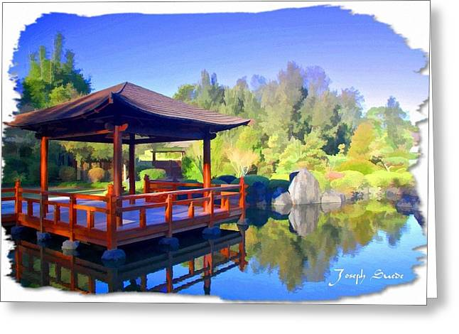 Do-00003 Shinden Style Pavilion Greeting Card by Digital Oil