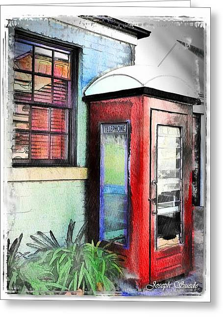 Do-00091 Telephone Booth In Morpeth Greeting Card by Digital Oil