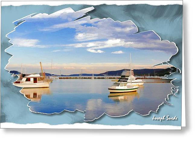 Greeting Card featuring the photograph Do-00115 Boats In Gosford by Digital Oil