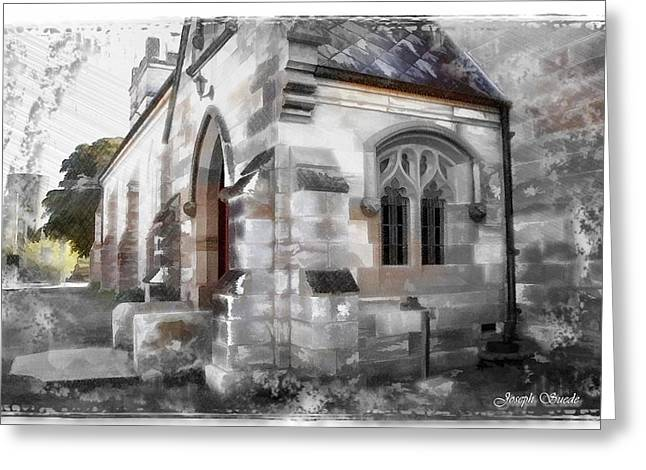 Greeting Card featuring the photograph Do-00116 Church In Morpeth by Digital Oil