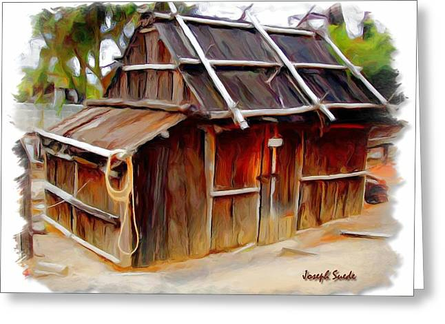 Greeting Card featuring the photograph Do-00129 Old Cottage by Digital Oil