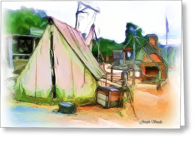 Greeting Card featuring the photograph Do-00139 Tent by Digital Oil