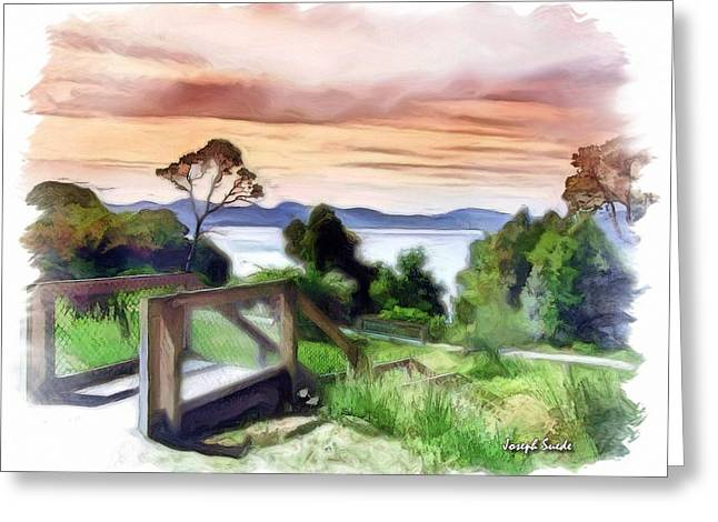 Do-00272 Look Out From Sarah Island Greeting Card by Digital Oil