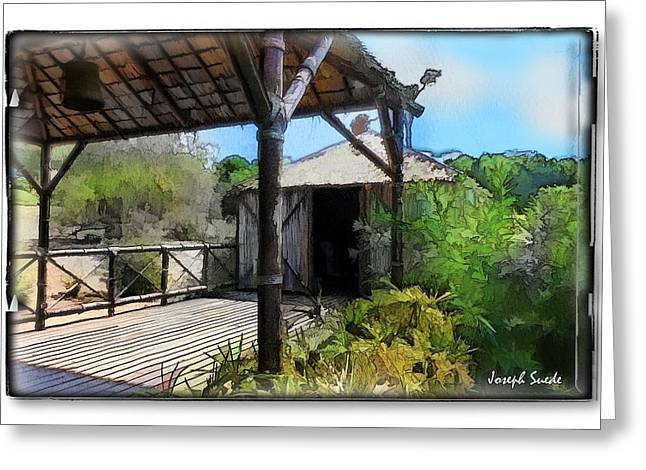 Greeting Card featuring the photograph Do-00342 Terrace Bois Des Pins by Digital Oil
