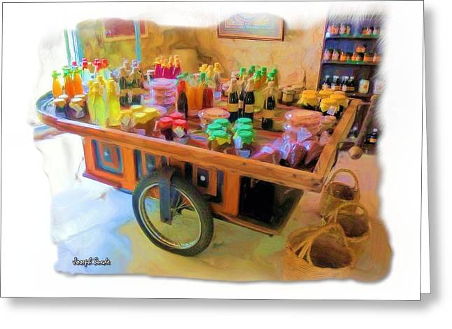 Greeting Card featuring the photograph Do-00391 Wheel Stand by Digital Oil